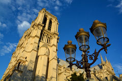 He Notre Dame cathedral of Paris Stock Photo