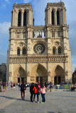 He Notre Dame cathedral of Paris Stock Images