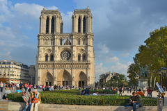 He Notre Dame cathedral of Paris Royalty Free Stock Photo
