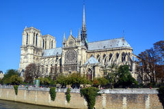 He Notre Dame cathedral of Paris Royalty Free Stock Images