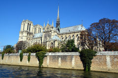 He Notre Dame cathedral of Paris Stock Photography