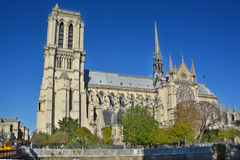 The Notre Dame cathedral of Paris Royalty Free Stock Photo