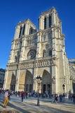 The Notre Dame cathedral of Paris Stock Photo
