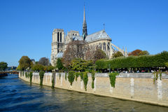 The Notre Dame cathedral of Paris Royalty Free Stock Photography