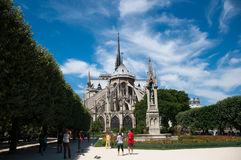 Notre Dame Cathedral, Paris, Frankreich Stockbilder
