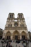 Notre Dame Cathedral, Paris, Frankrike Arkivfoto