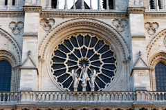Notre Dame Cathedral, Paris, Frankrike. Paris turist- dragning Royaltyfria Bilder