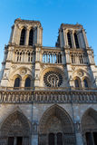 Notre Dame Cathedral, Paris, Frankrike. Paris turist- dragning Royaltyfri Bild