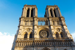 Notre Dame Cathedral, Paris, Frankrike. Paris turist- dragning Arkivfoto