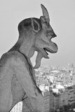 The Notre Dame cathedral of Paris gargoyle Royalty Free Stock Photography
