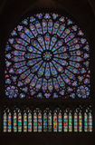 Notre Dame Cathedral Paris Glass Window Stock Photo