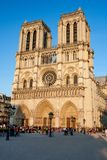 Notre-Dame Cathedral in Paris stock image