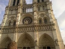 Notre-Dame Cathedral in Paris royalty free stock images