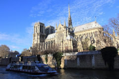 Notre-Dame cathedral of Paris Royalty Free Stock Image