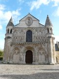Notre Dame Cathedral in Poitiers Stock Photography