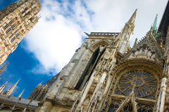 Notre Dame cathedral in Rouen Stock Photos