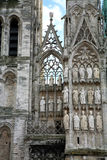 Notre Dame Cathedral in Rouen, France. Royalty Free Stock Images