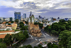 Notre Dame Cathedral in Saigon Royalty Free Stock Image