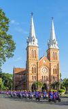 Notre Dame Cathedral ( Saigon Notre-Dame Basilica ) located in the downtown of Ho Chi Minh City, Vietnam. Royalty Free Stock Photos