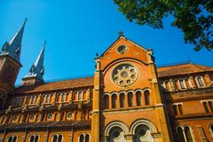 Notre Dame Cathedral in Saigon.Vietnam.Ho Chi Minh Royalty Free Stock Photography