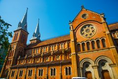 Notre Dame Cathedral in Saigon.Vietnam.Ho Chi Minh Stock Image