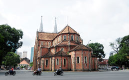 Notre Dame cathedral in Saigon Stock Image