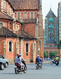 Notre Dame cathedral in Saigon Royalty Free Stock Photography