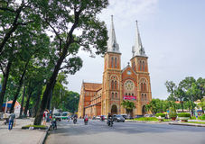 Notre Dame cathedral in Saigon Royalty Free Stock Photo