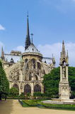 Notre Dame Cathedral, medieval Catholic church - landmark attraction in Paris, France. UNESCO World Heritage Site Royalty Free Stock Images