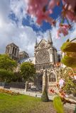 Notre Dame cathedral in spring time, Paris, France Stock Image