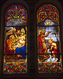 Notre Dame Cathedral Stained Glass Saigon Vietnam Stock Images