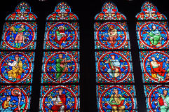 Notre Dame Cathedral Stained Glass Window Stock Photos
