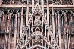 Notre Dame Cathedral in Straatsburg, de Elzas, Frankrijk Royalty-vrije Stock Fotografie