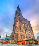 The Notre-Dame Cathedral of Strasbourg, France. The Notre-Dame Cathedral of Strasbourg - Alsace, France Stock Photo