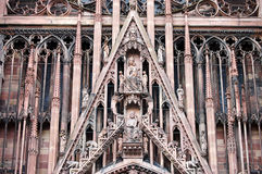 The Notre Dame Cathedral in Strasbourg, Alsace, France Royalty Free Stock Photography