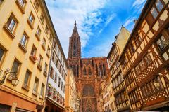 Notre Dame Cathedral in Strasbourg France Royalty Free Stock Image