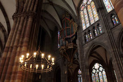 Notre Dame cathedral in Strasbourg Stock Images