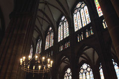 Notre Dame cathedral in Strasbourg Royalty Free Stock Photos