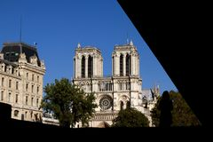 Notre Dame Cathedral in summer Cathedral of Our Lady of Paris, France royalty free stock images
