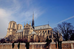 Notre Dame Cathedral. On a sunny Valentines Day Stock Image