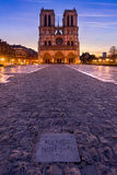 Notre Dame Cathedral at sunrise, Paris, France Royalty Free Stock Images