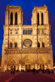Notre Dame cathedral sunset in Paris France Royalty Free Stock Image