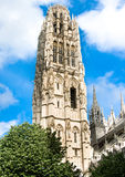 Notre Dame cathedral Tower in Rouen Royalty Free Stock Images