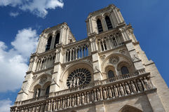 Notre Dame Cathedral Twin Towers Royalty Free Stock Images