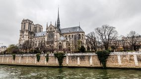 Notre-Dame Cathedral during winter Christmas. Holiday in France - Notre-Dame Cathedral during winter Christmas Stock Image