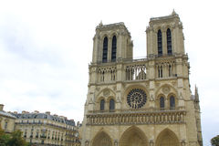 Notre dame cathedrale in Paris, France Stock Images