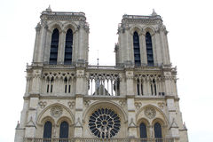 Notre dame cathedrale in Paris, France Stock Photos
