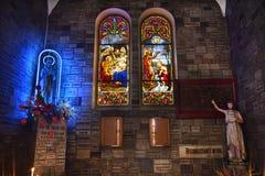 Notre Dame Catherdral Maagdelijke Mary Shrine Vietnam Stock Afbeeldingen