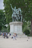 Notre Dame Charlemagne sculpture monument Stock Photo