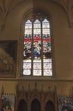 Notre-Dame Chatnedral Ζωηρόχρωμα Windows Στοκ φωτογραφία με δικαίωμα ελεύθερης χρήσης